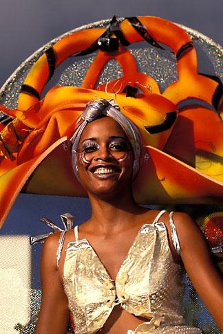 image 9-31-64 Martinique, Carnaval, Dancer