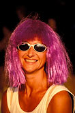 one woman only stock photography | Martinique, Carnaval, Woman with pink hair, image id 9-33-79