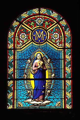 image 9-50-49 Martinique, Fort de France, Stained glass, Cathedrale St Louis