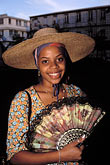 head covering stock photography | Martinique, Carnaval, Woman with hat, image id 9-50-78
