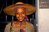 french west indies stock photography | Martinique, Carnaval, Woman with hat, image id 9-50-79
