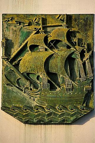 image 9-53-4 Martinique, Fort de France, Plaque honoring Christopher Columbus