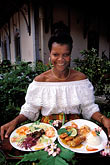 one woman only stock photography | Martinique, Plantations, Seafood platters, image id 9-57-17