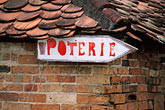 tiled roof stock photography | Martinique, Trois-�slets, La Poterie, image id 9-81-28