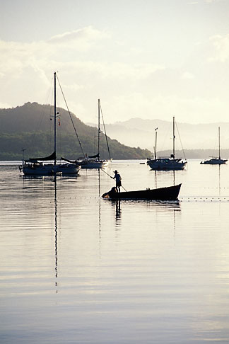 image 9-81-7 Martinique, Trois Islets, Boats