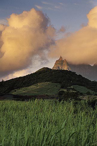 image 9-200-14 Mauritius, Morning light on Pieter Both peak