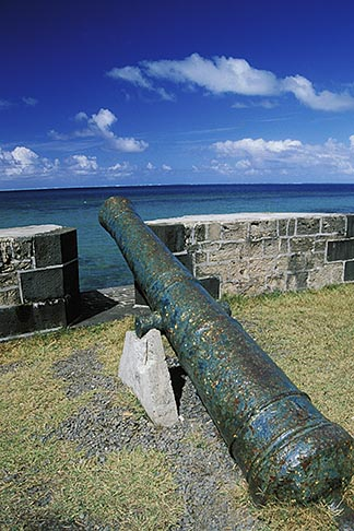 image 9-200-75 Mauritius, French cannon, Pointe du Diable
