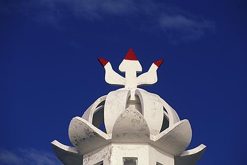 image 9-201-8 Mauritius, Hindu temple, architectural detail