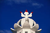 blue sky stock photography | Mauritius, Hindu temple, architectural detail, image id 9-201-8