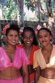 three girls stock photography | Mauritius, Mauritian dancers, Domaine les Pailles, image id 9-205-49