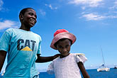 girl stock photography | Mauritius, Young boy and girl, Grand Rivi�re Noire, image id 9-206-6