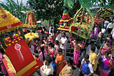 hindu festival stock photography | Mauritius, Cavadee Festival, Street scene during the parade, image id 9-220-84