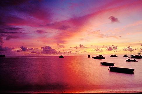 image 9-240-18 Mauritius, Sunset, Tamarin