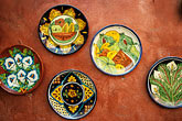colour stock photography | Mexican Art, Painted plates, image id 0-40-25