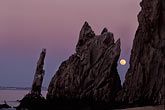 purple light stock photography | Mexico, Cabo San Lucas, Full moon, Land