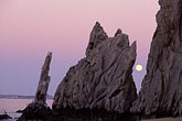 coastline stock photography | Mexico, Cabo San Lucas, Full moon, Land