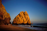 sunset stock photography | Mexico, Cabo San Lucas, Surfers, Land