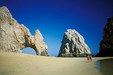 woman on beach stock photography | Mexico, Cabo San Lucas, El Arco, Land