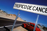 road sign stock photography | Mexico, Baja California Sur, Tropic of Cancer, image id 0-64-31