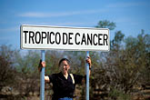 signs stock photography | Mexico, Baja California Sur, Tropic of Cancer, image id 0-64-35