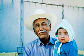 senior stock photography | Mexico, Baja California Sur, Old man and grandchild, La Huerta, image id 0-82-35