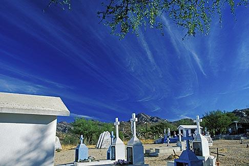 image 0-82-46 Mexico, Baja California Sur, Cemetery, La Huerta