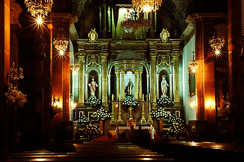 image 4-262-9 Mexico, San Miguel de Allende, Interior, La Parroquia church