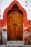 decorated door stock photography | Mexico, San Miguel de Allende, Colonial doorway, image id 4-272-32