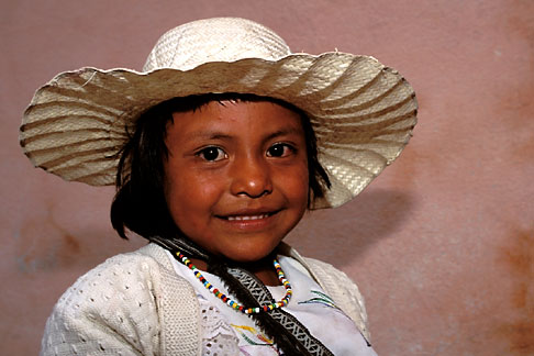 image 4-283-20 Mexico, San Miguel de Allende, Young girl from nearby San Ildefonso