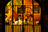 restaurant at night stock photography | Mexico, San Miguel de Allende, Restaurant, Hotel de San Francisco, image id 4-293-16