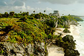 mayan sites stock photography | Mexico, Yucatan, Tulum, El Castillo, image id 4-850-2714