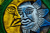 folk art stock photography | Mexico, Riviera Maya, Sun and Moon, image id 4-850-2765