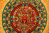 central america stock photography | Mexican art, Aztec Calendar, image id 4-850-2769