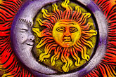 close up stock photography | Mexican art, Sun and Moon, image id 4-850-2772