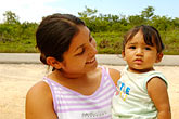 central america stock photography | Mexico, Riviera Maya, Mother and son near Coba, image id 4-850-2775