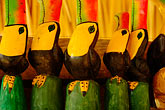 colour stock photography | Mexico, Riviera Maya, Carved toucans, image id 4-850-2799