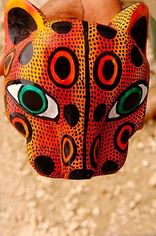image 4-850-2803 Mexican art, Carved jaguar mask