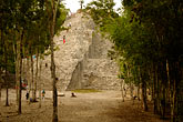 pyramid stock photography | Mexico, Yucatan, Coba, El Castillo, image id 4-850-2852