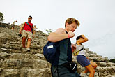 mayan sites stock photography | Mexico, Yucatan, Coba, climbing El Castillo, image id 4-850-2864