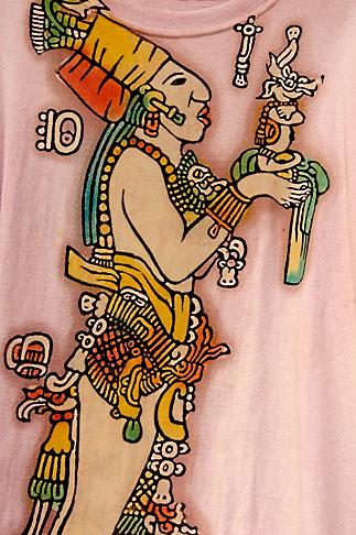 image 4-850-2891 Mexico, Yucatan, Mayan figure