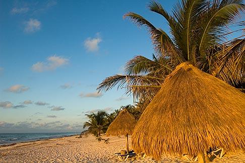 image 4-850-2902 Mexico, Riviera Maya, Tulum, Beach palapas