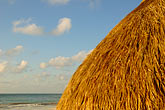 thatch stock photography | Mexico, Riviera Maya, Tulum, Palapa on the beach, image id 4-850-2942