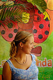 painting stock photography | Mexico, Playa del Carmen, Woman in cafe, image id 4-850-3226