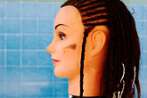 face stock photography | Still Life, Braids on mannequin, image id 4-850-3273