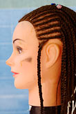 face stock photography | Still Life, Braids on mannequin, image id 4-850-3276