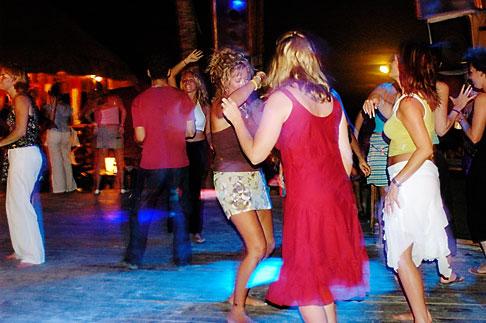 image 4-850-3490 Mexico, Playa del Carmen, Blue Parrot, dance party