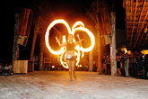 image 4-850-3547 Mexico, Playa del Carmen, Fire dancer