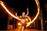 riviera maya stock photography | Mexico, Playa del Carmen, Fire dancer, image id 4-850-3575
