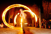 latin america stock photography | Mexico, Playa del Carmen, Fire dancer, image id 4-850-3582