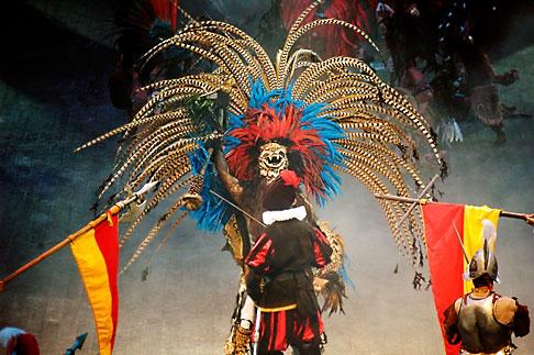 image 4-850-3869 Mexico, Riviera Maya, Xcaret, Folkloric show